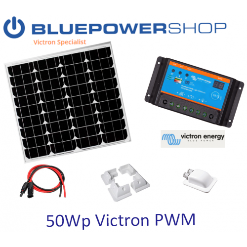 Solar set 50Wp Victron PWM 5A light + 1 x 50Wp paneel